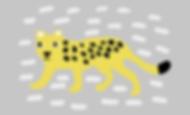 scandinavian kids room leopard poster