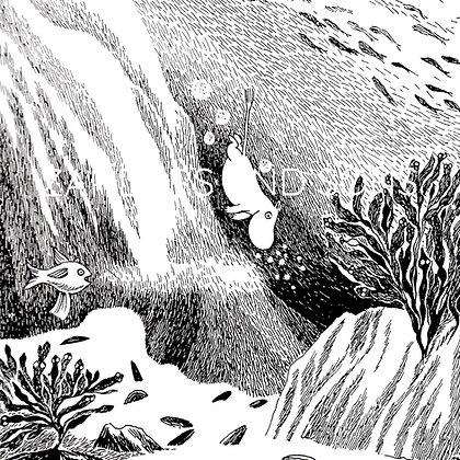 Moomin print Dive