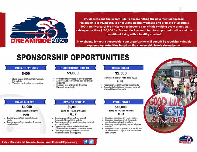 Dreamride 2020 Sponsorship Opportunities