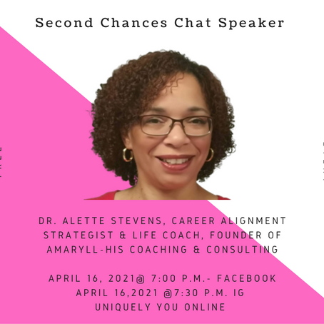 Second Chances Chat Speaker