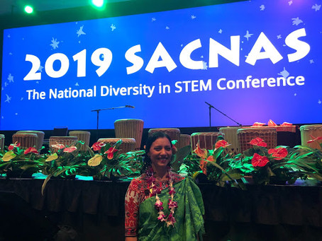 Dr. Patricia Silveyra participated in the 2019 SACNAS National Diversity STEM Conference