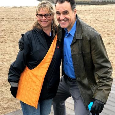 Lori Lowe and Sal Rendino take a minute to strike a pose.