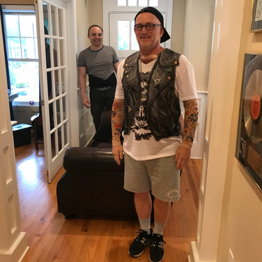 """Gary Geller and Sandro Makaj as """"Best of the Bronx Moving Men"""""""