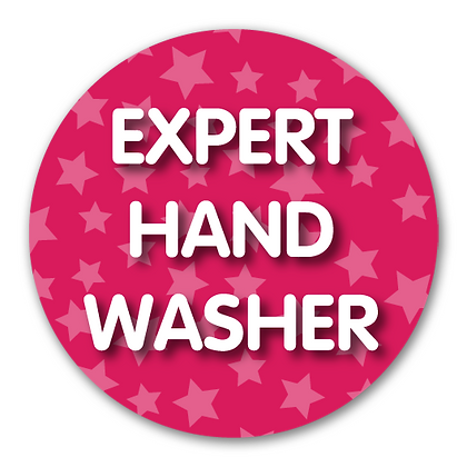 40mm Dia Reward Sticker 'Expert Hand Washer'