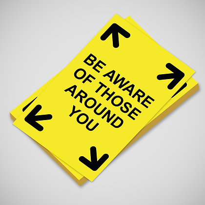 'BE AWARE' Poster