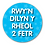 Thumbnail: 40mm Dia Welsh Reward Sticker 'Following the 2 Metre Rule'