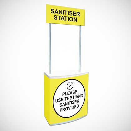 Small Sanitiser Station in Yellow