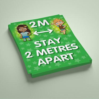 'Stay 2 Metres Apart'