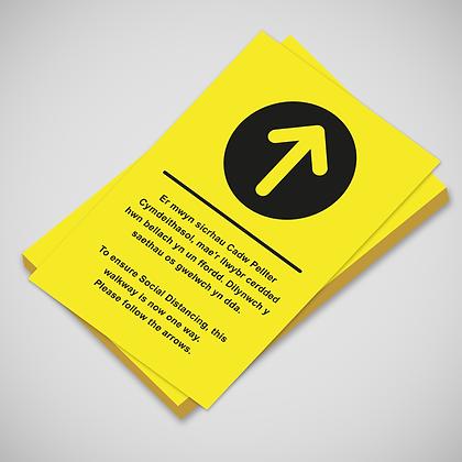 Bilingual 'Ahead Arrow' Poster