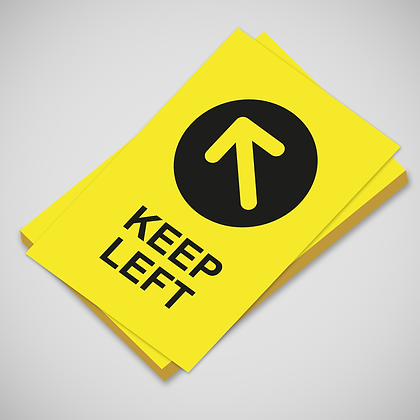 'KEEP LEFT' Poster