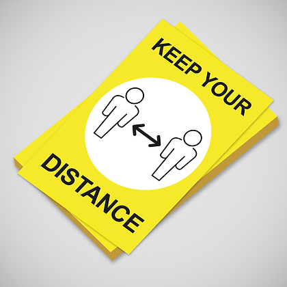 'KEEP YOUR DISTANCE' Poster