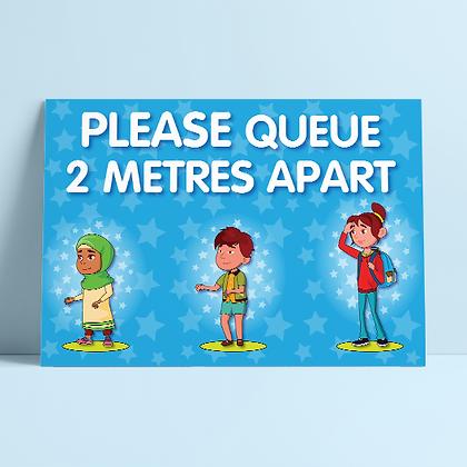 'Please Queue 2M Apart'