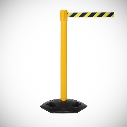 Retractable 3.4 M Belt Barrier (Yellow or Black)