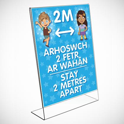 Bilingual Acrylic Display Frame