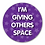 Thumbnail: 40mm Dia Reward Sticker 'Giving Others Space'