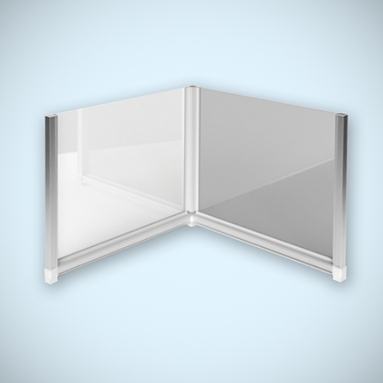 L-Shaped Covid Protection Screen