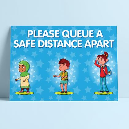 'Queue at a safe distance'