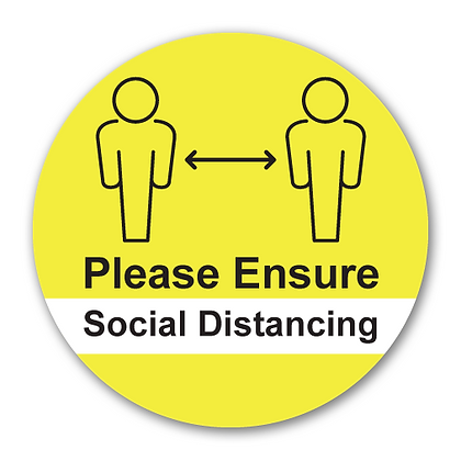 'Please Ensure Social Distancing'