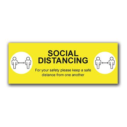'SOCIAL DISTANCING' 800x300mm