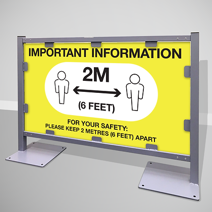 Queuing Barrier 'IMPORTANT INFO'