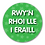 Thumbnail: 40mm Dia Welsh Reward Sticker 'Giving Others Space'