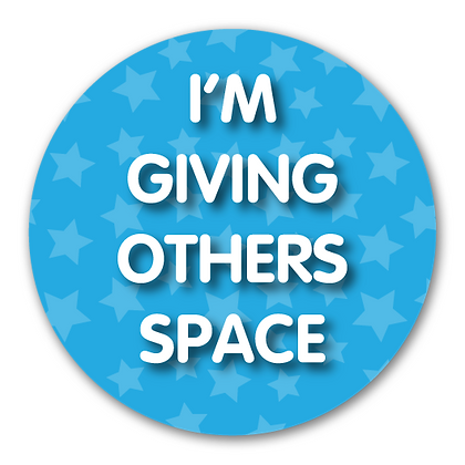 40mm Dia Reward Sticker 'Giving Others Space'