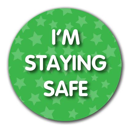 40mm Dia Reward Sticker 'Staying Safe'