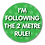 Thumbnail: 40mm Dia Reward Sticker 'Following the 2 Metre Rule'