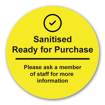 'Sanitised - Ready for Purchase'