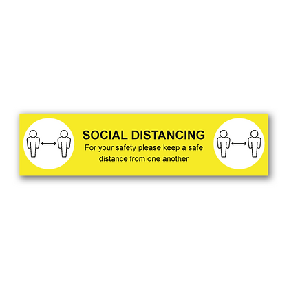 'SOCIAL DISTANCING' 600x150mm