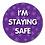 Thumbnail: 40mm Dia Reward Sticker 'Staying Safe'