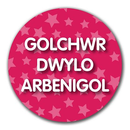 40mm Dia Welsh Reward Sticker 'Expert Hand Washer'