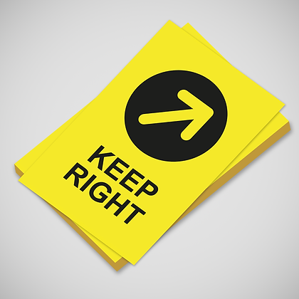 'KEEP RIGHT' Poster