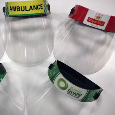 Branded Re-useable Face Shields (Pack of 10)