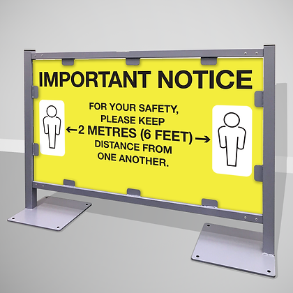 Queuing Barrier 'IMPORTANT NOTICE'