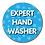 Thumbnail: 40mm Dia Reward Sticker 'Expert Hand Washer'