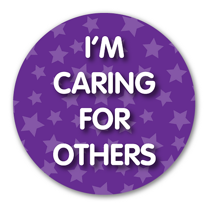 40mm Dia Reward Sticker 'Caring for Others'