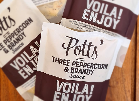 Potts Three Peppercorn and Brandy Sauce