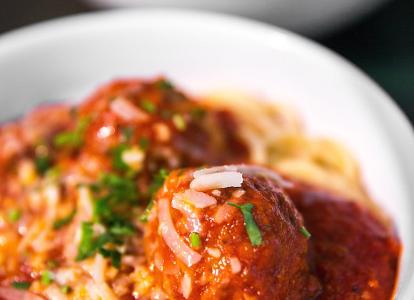 Italian Beef and Pork Meatballs in Tomato Sauce