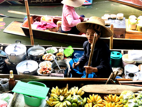 The Bangkok Train Market and Floating Market