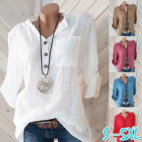 Pure cotton woman blouse