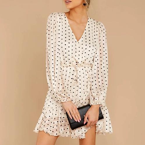 White dots Dress