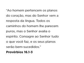 Provérbios 16.1-3