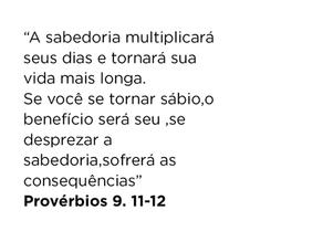 Provérbios 9.11-12