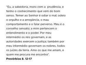 Provérbios 8. 12-17
