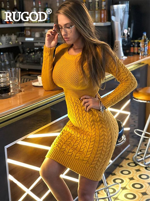Knitted winter dress