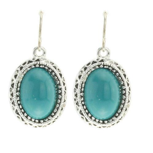 azure earings silver
