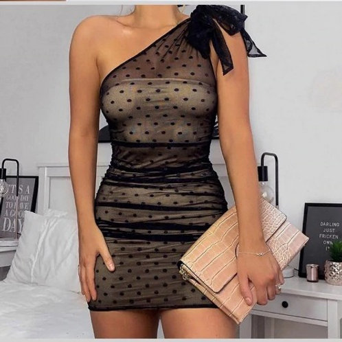 Dotted Sheer Cocktail dress