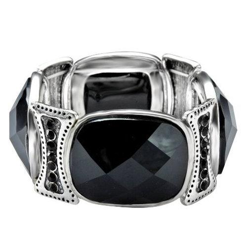 Silver black stone