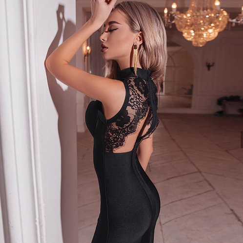 Summer backless Lace  Dress